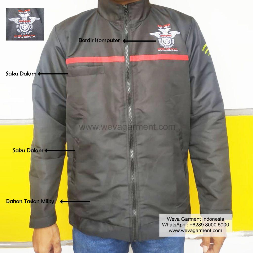 Hasil Produksi Jaket Go-Jek Inteam Surabaya