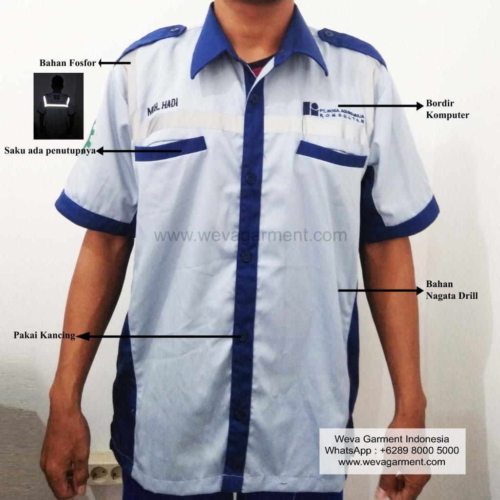 Weva-Garment-Indonesia-Konveksi-Surabaya-Kemeja PT Rosa Agung Mulia Konsultan-min
