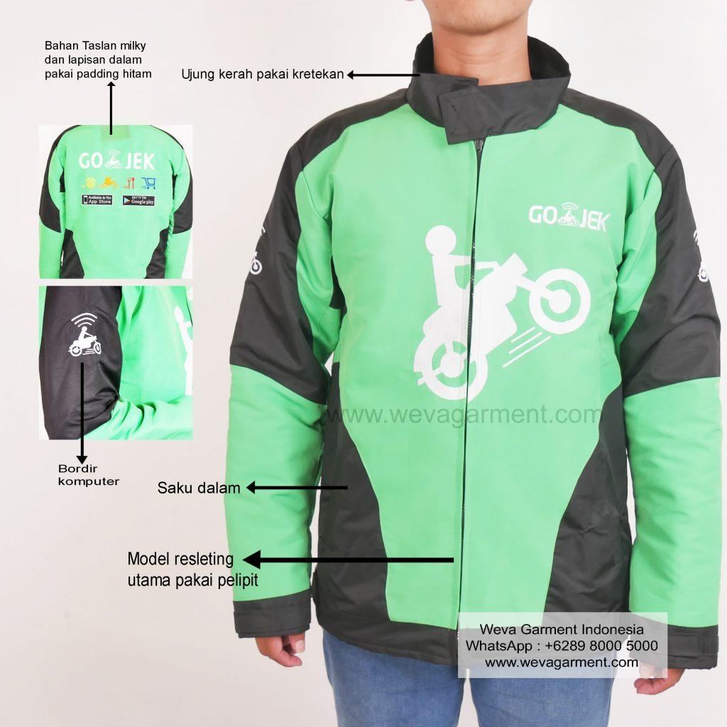 Hasil Produksi Dan Desain Jaket Go-Jek