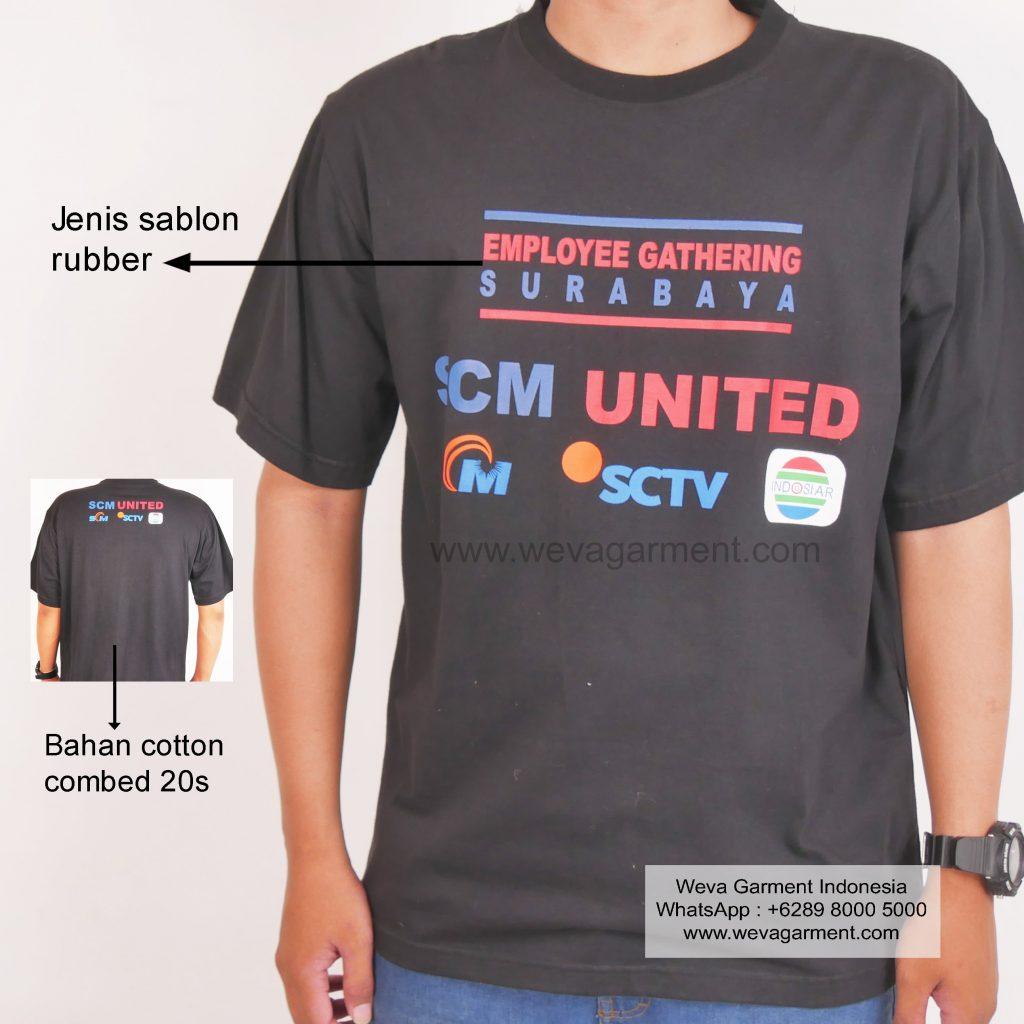 Hasil Produksi Dan Desain Kaos SCM United
