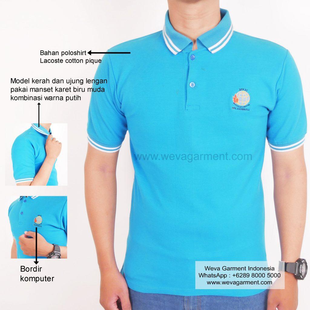 Hasil Produksi dan Desain Poloshirt BPN Manggarai