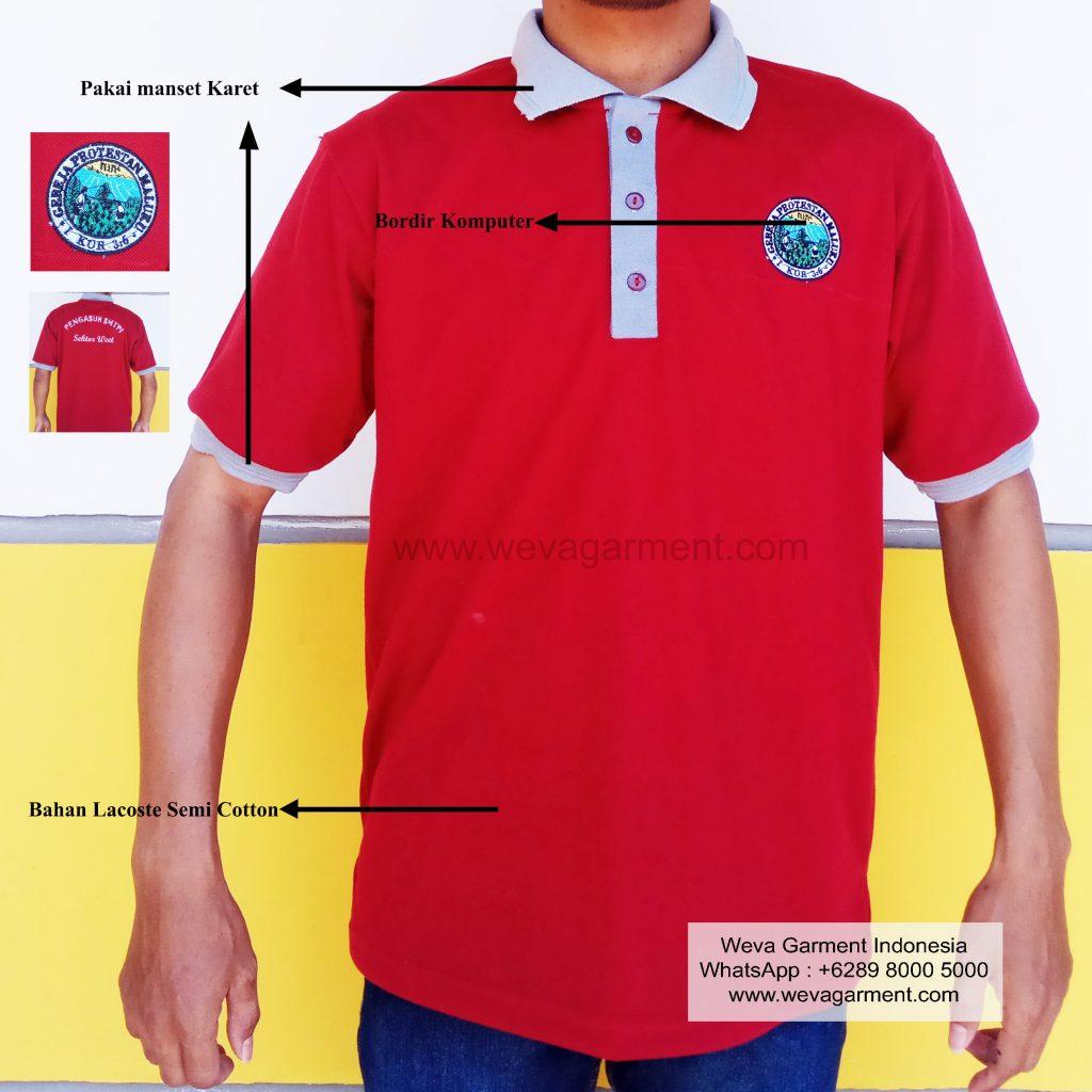 Hasil Produksi dan Desain Poloshirt Pengasuh SMTPI