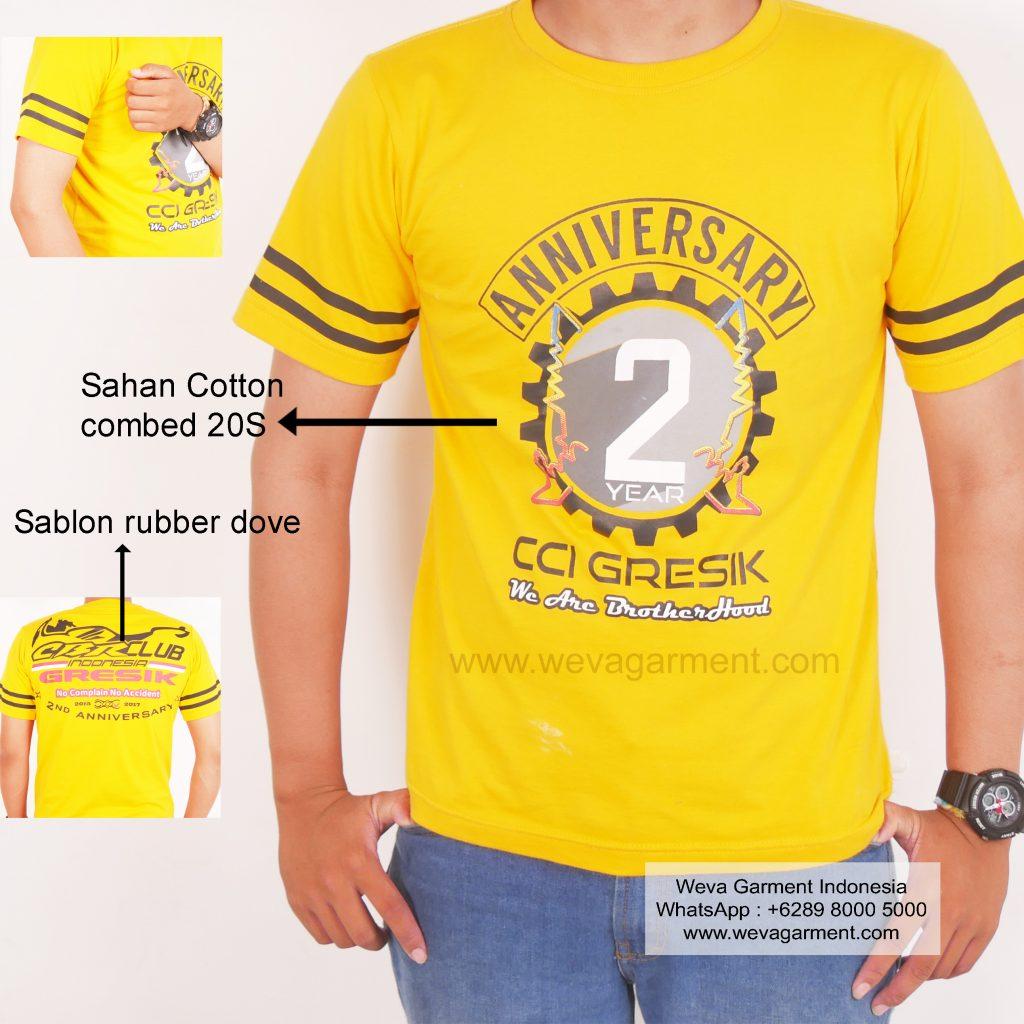 Hasil Produksi Dan Desain Kaos Anniversary CBR