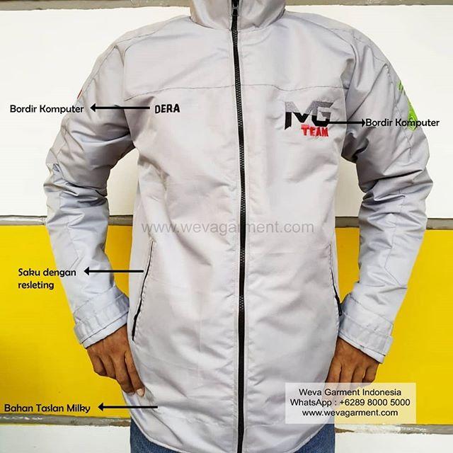 Hasil Produksi Dan Desain Jaket Taslan MG Team