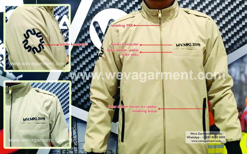 Hasil Produksi dan Desain Jaket Kontraktor PT.MKI
