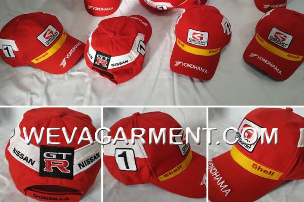 Hasil Produksi dan Desain Topi Gibson Motorsport Nissan Team