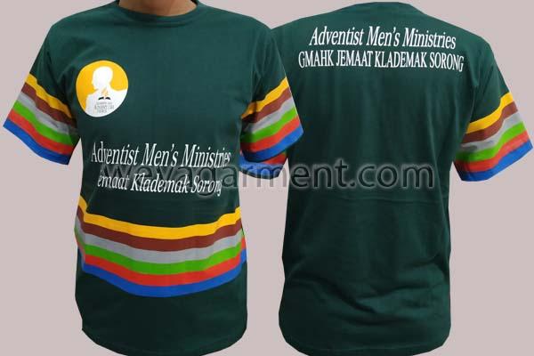 Hasil Produksi dan Desain Kaos Adventish men's Ministries