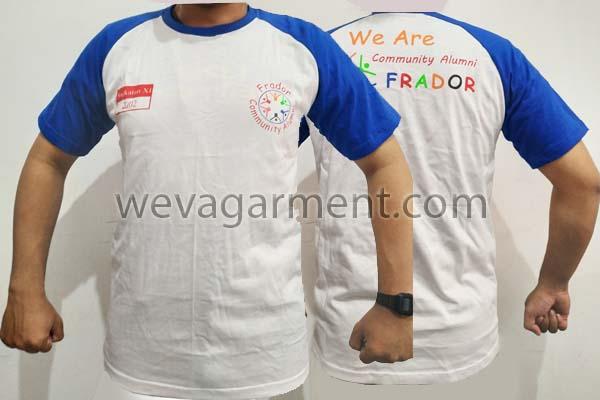 Hasil Produksi dan Desain Kaos Alumni Frador