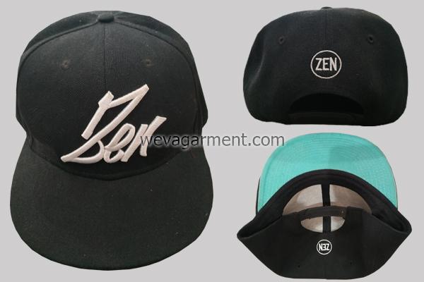 """Hasil Produksi dan Desain Topi Bordir 3D """"ZEN"""""""
