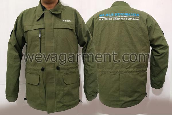 Hasil Produksi dan Desain Jaket Poltekkes Surabaya