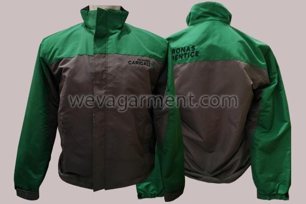 Hasil Produksi dan Desain Jaket PETRONAS