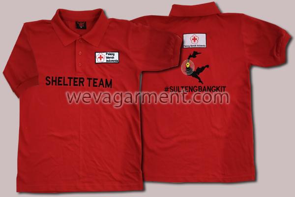 Hasil Produksi dan Desain Poloshirt Shelter Team