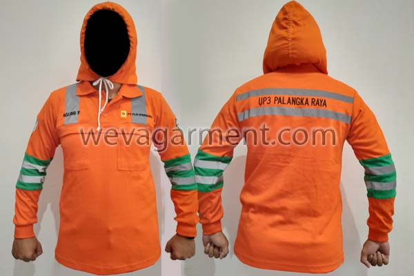 Hasil Produksi dan Desain Poloshirt Hoodie Palangka Raya