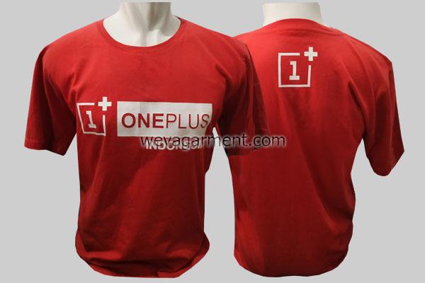 Hasil Produksi dan Desain Kaos ONE+ PLUS