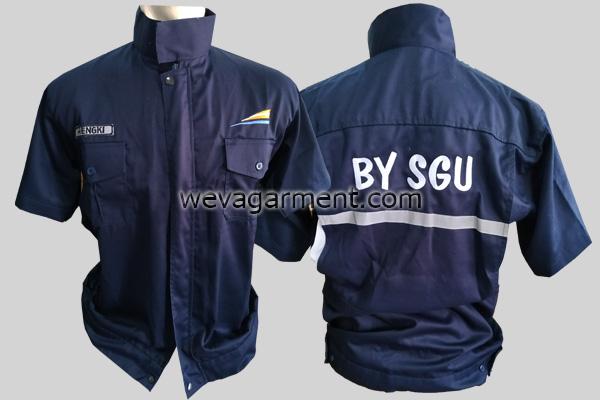 Hasil Produksi dan Desain Kemeja BY SGU