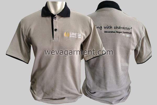 Hasil Produksi dan Desain Poloshirt UNESA