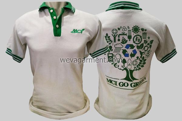 Hasil Produksi dan Desain Poloshirt MCI Go Green