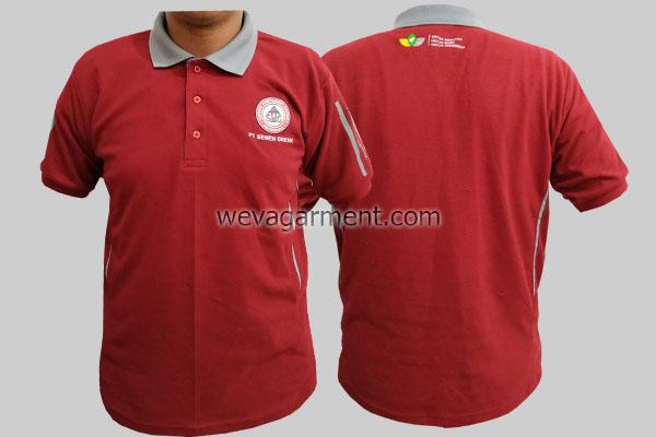 Hasil Produksi dan Desain Poloshirt PT. SEMEN GRESIK
