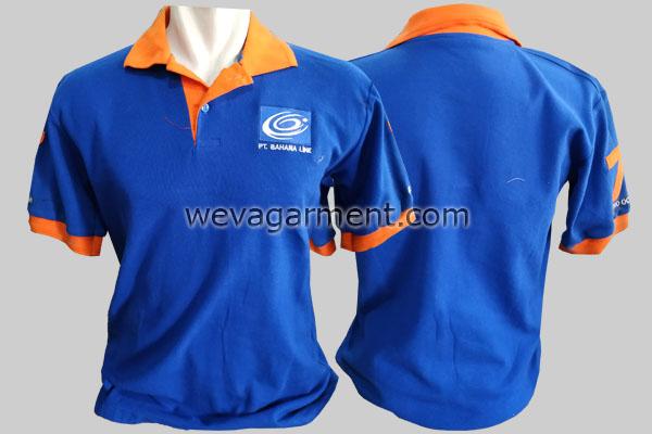 Hasil Produksi dan Desain Poloshirt PT. Bahana Line