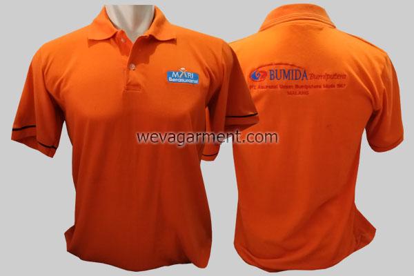 Hasil Produksi dan Desain Poloshirt BUMIDA Asuransi