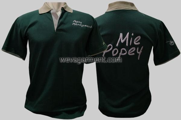 Hasil Produksi dan Desain Poloshirt Mie Popey