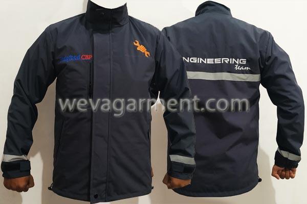 Hasil Produksi dan Desain Jaket Flip Engineering team