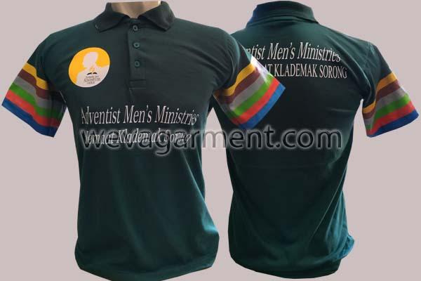Hasil Produksi dan Desain Poloshirt Adventish Men's