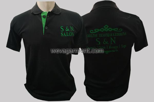 Hasil Produksi dan Desain Kaos Poloshirt S&N SALON