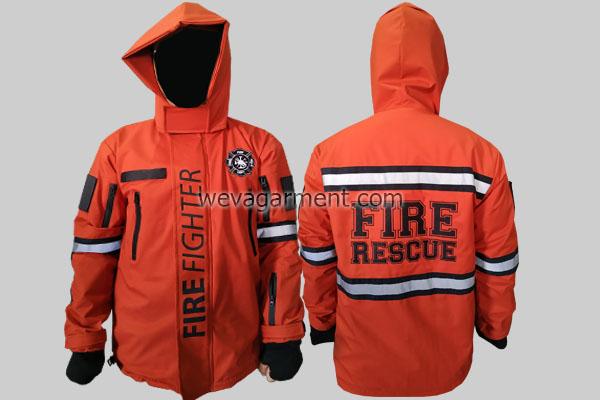 Hasil Produksi dan Desain Jaket FIRE RESCUE