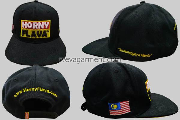 Hasil Produksi dan Desain Topi Horny Flava TM
