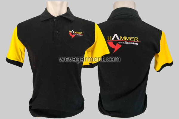 Hasil Produksi dan Desain Poloshirt HAMMER