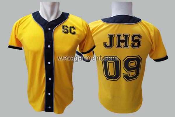 Hasil Produksi dan Desain Jersey Baseball JHS