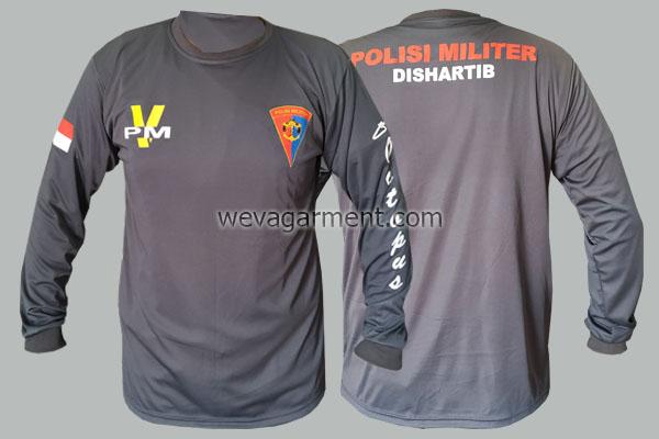 Hasil Produksi dan Desain Kaos Polisi Militer