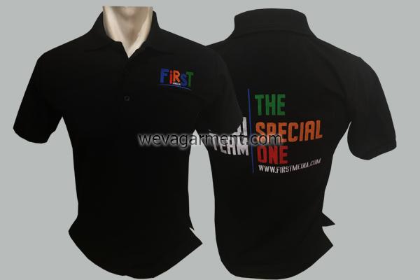 Hasil Produksi dan Desain Poloshirt First Media