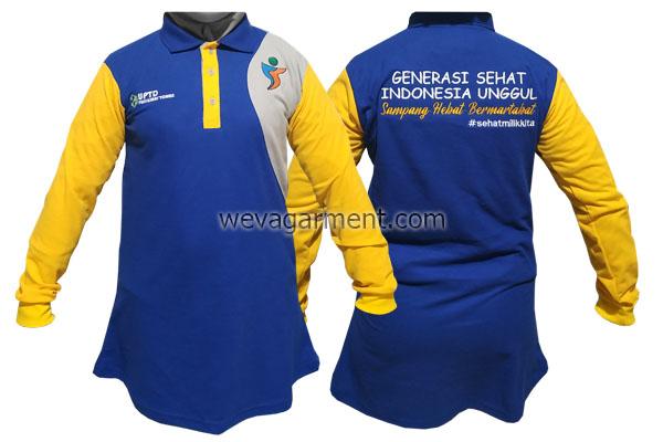 Hasil Produksi dan Desain Polo Shirt UPTD
