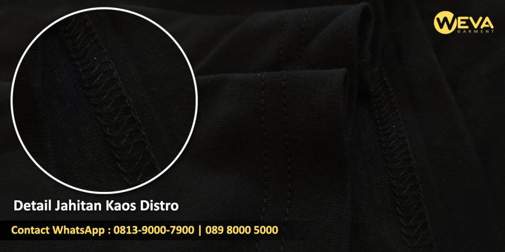 Detail Hasil Produksi Kaos Distro - Jahitan Kaos Konveksi Surabaya