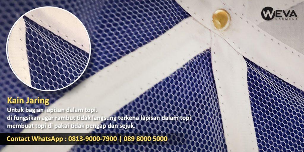 Detail Hasil Produksi Lapisan Topi - Kain Jaring