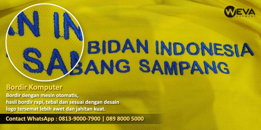 Bordir Komputer Logo Puskesmas Punggung - Logo IBI