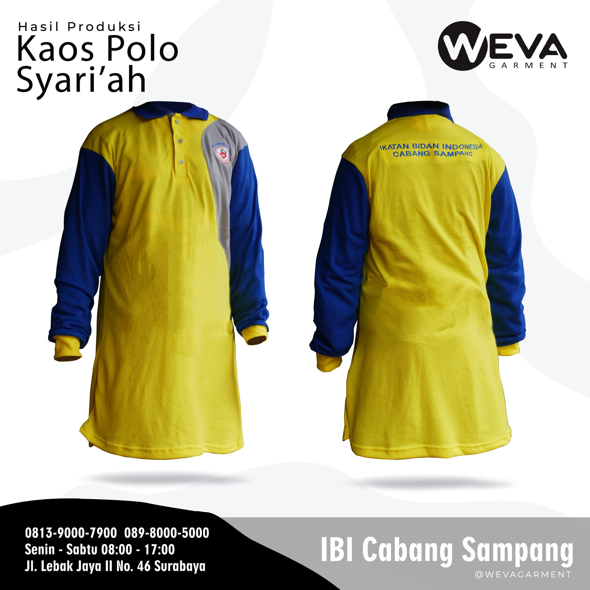 Hasil Produksi dan Desain Poloshirt Puskesmas IBI Sampang