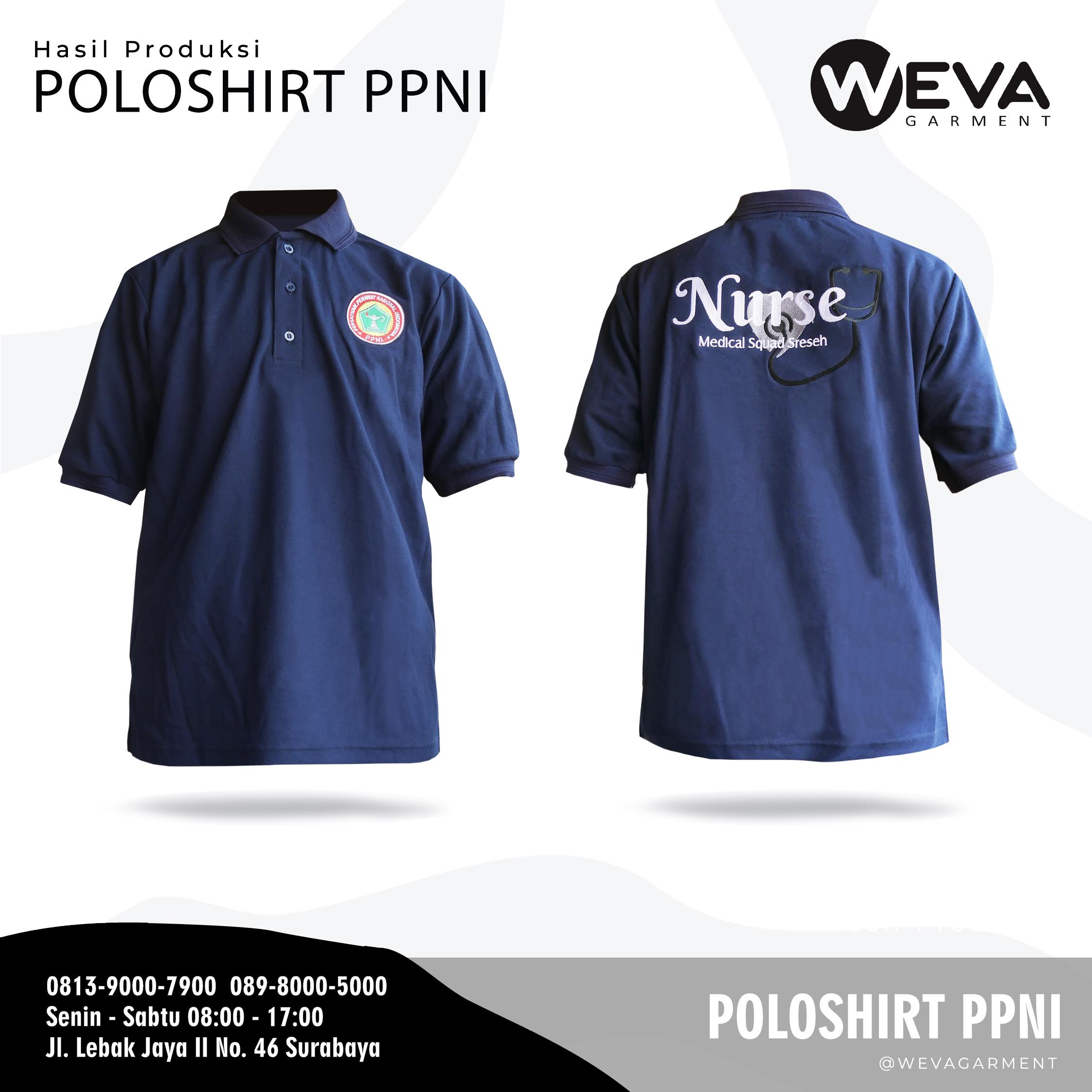 Hasil Produksi dan Desain Poloshirt PPNI SRESEH