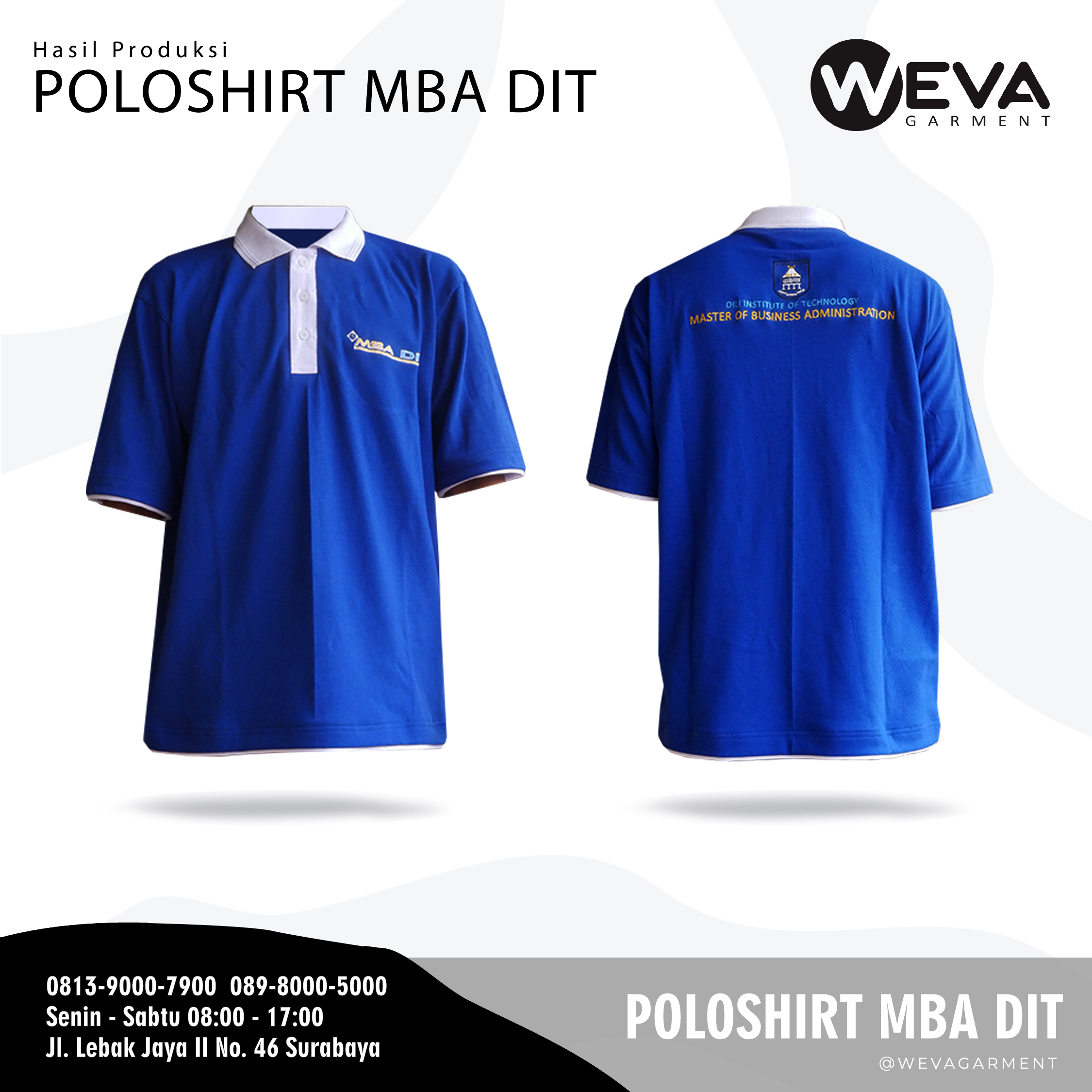 Hasil Produksi dan Desain Poloshirt MBA DIT